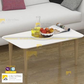 Bàn sofa hình chữ nhật chân gỗ SF91