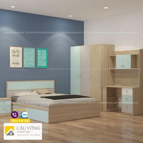 Bộ giường tủ phòng trẻ em PTE87
