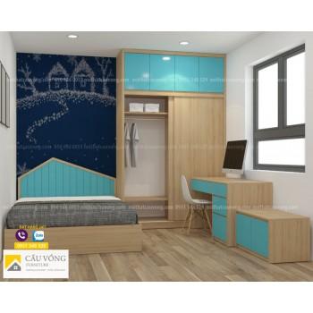 Bộ giường tủ phòng trẻ em PTE88