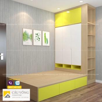 Bộ giường tủ phòng trẻ em PTE90