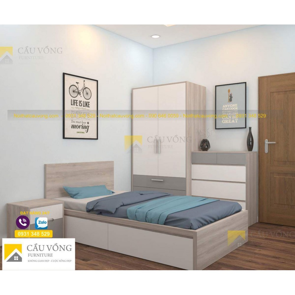 Bộ giường tủ phòng ngủ đẹp BPN37