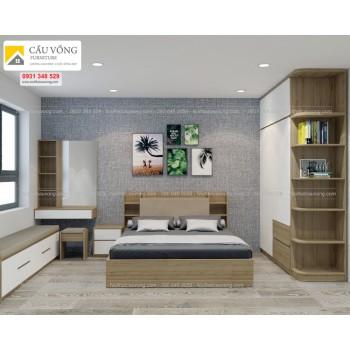 Bộ giường tủ phòng ngủ đẹp BPN03