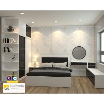 Bộ phòng ngủ đẹp gỗ công nghiệp BPN101