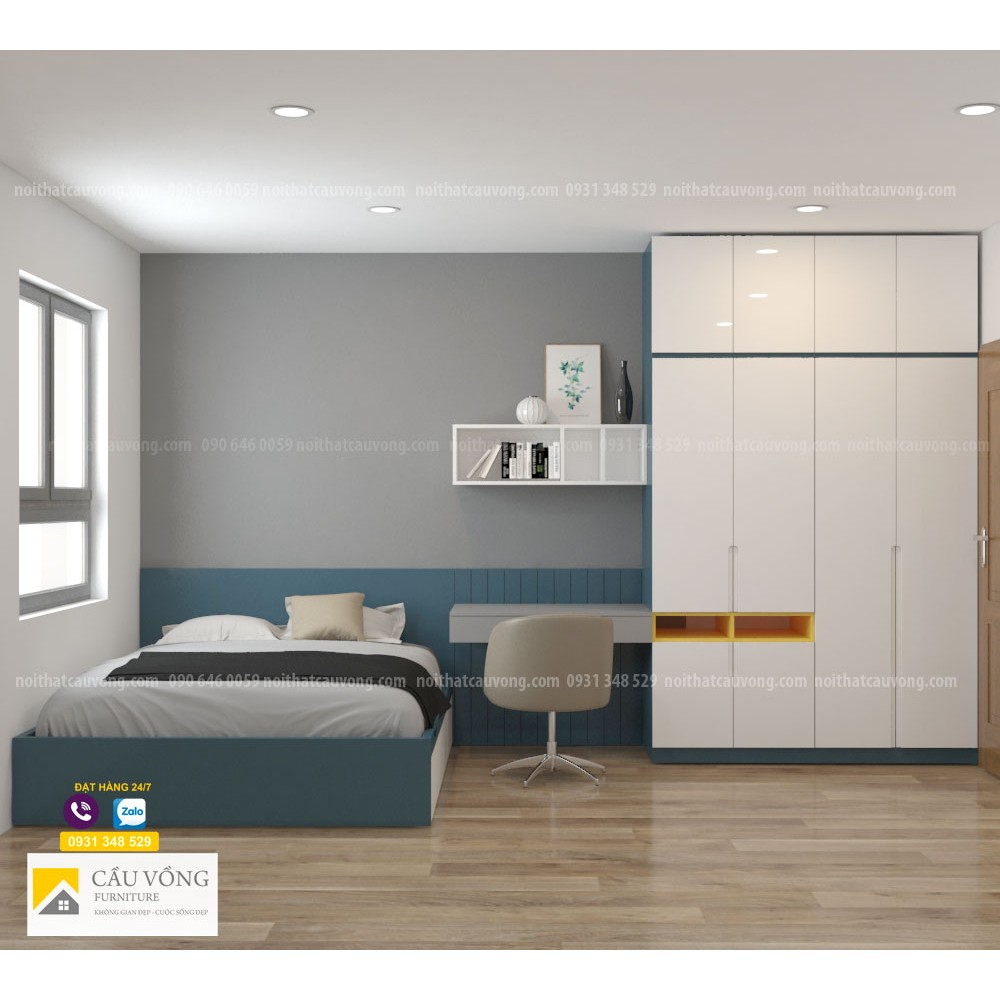 Bộ phòng ngủ đẹp hiện đại BPN106
