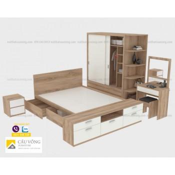 Bộ nội thất phòng ngủ hiện đại BPN109