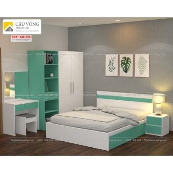 Bộ phòng ngủ màu trắng BPN12