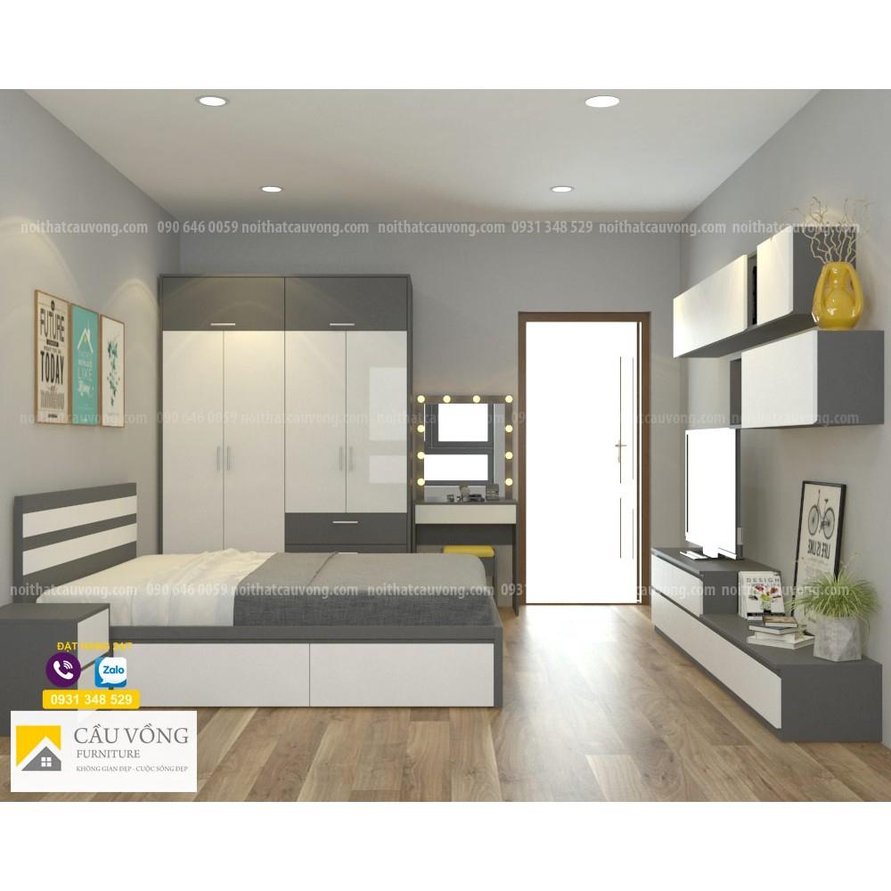 Bộ giường tủ phòng ngủ đẹp BPN41