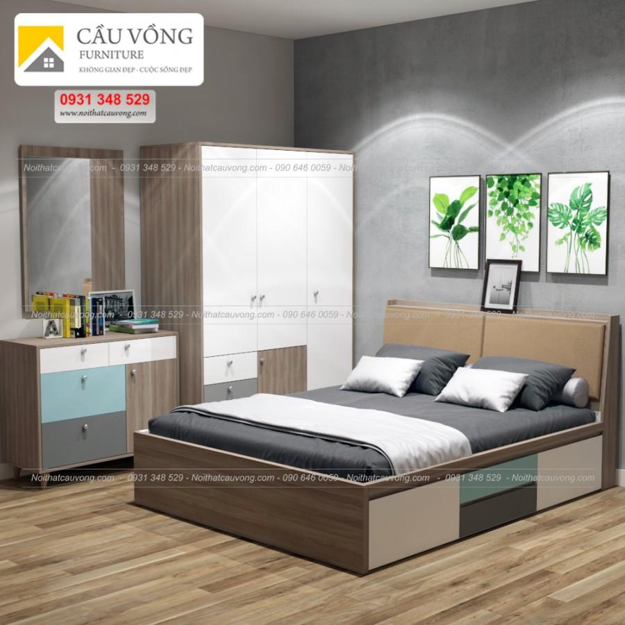 Bộ giường tủ đẹp BPN53