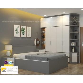Bộ giường tủ gỗ công nghiệp BPN57