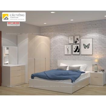 Bộ tủ giường giá rẻ BPN59