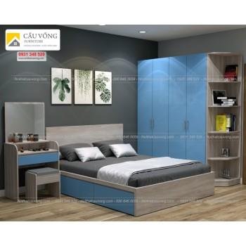 Bộ giường tủ phòng ngủ hiện đại BPN72