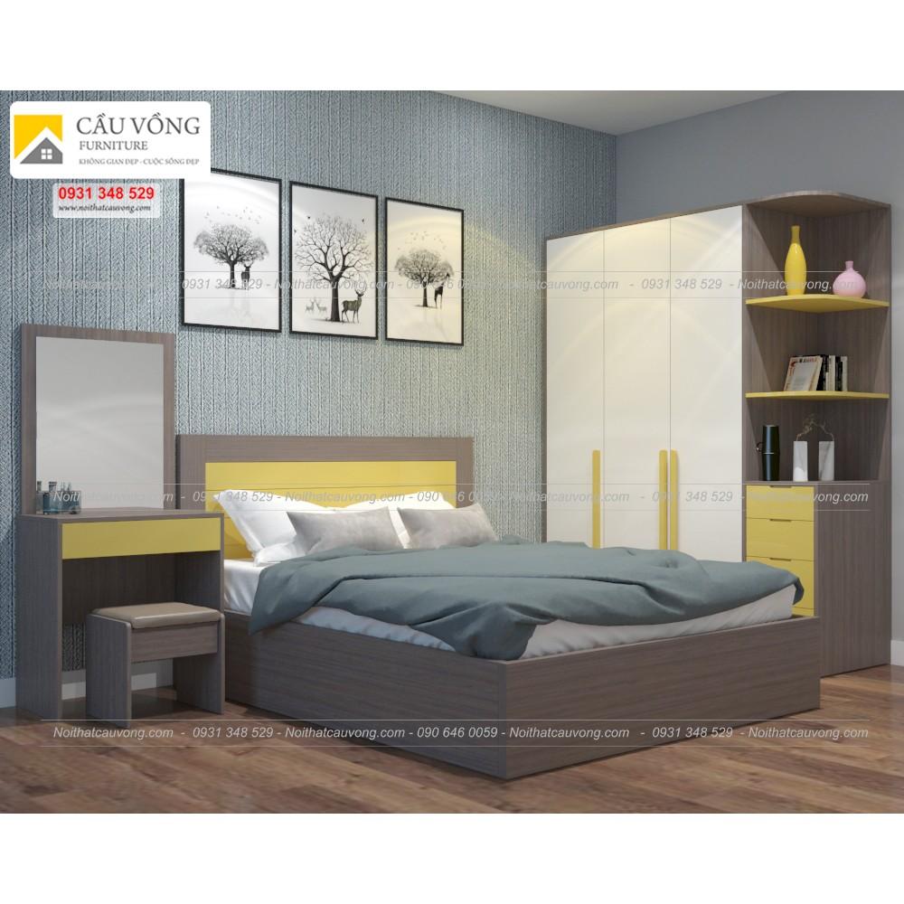 Bộ phòng ngủ thiết kế ấn tượng BPN77