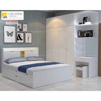 Bộ giường ngủ tủ quần áo BPN80