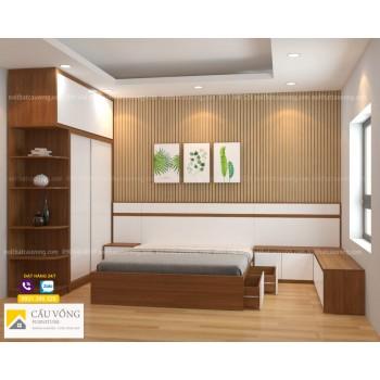 Bộ giường tủ gỗ công nghiệp BPN83