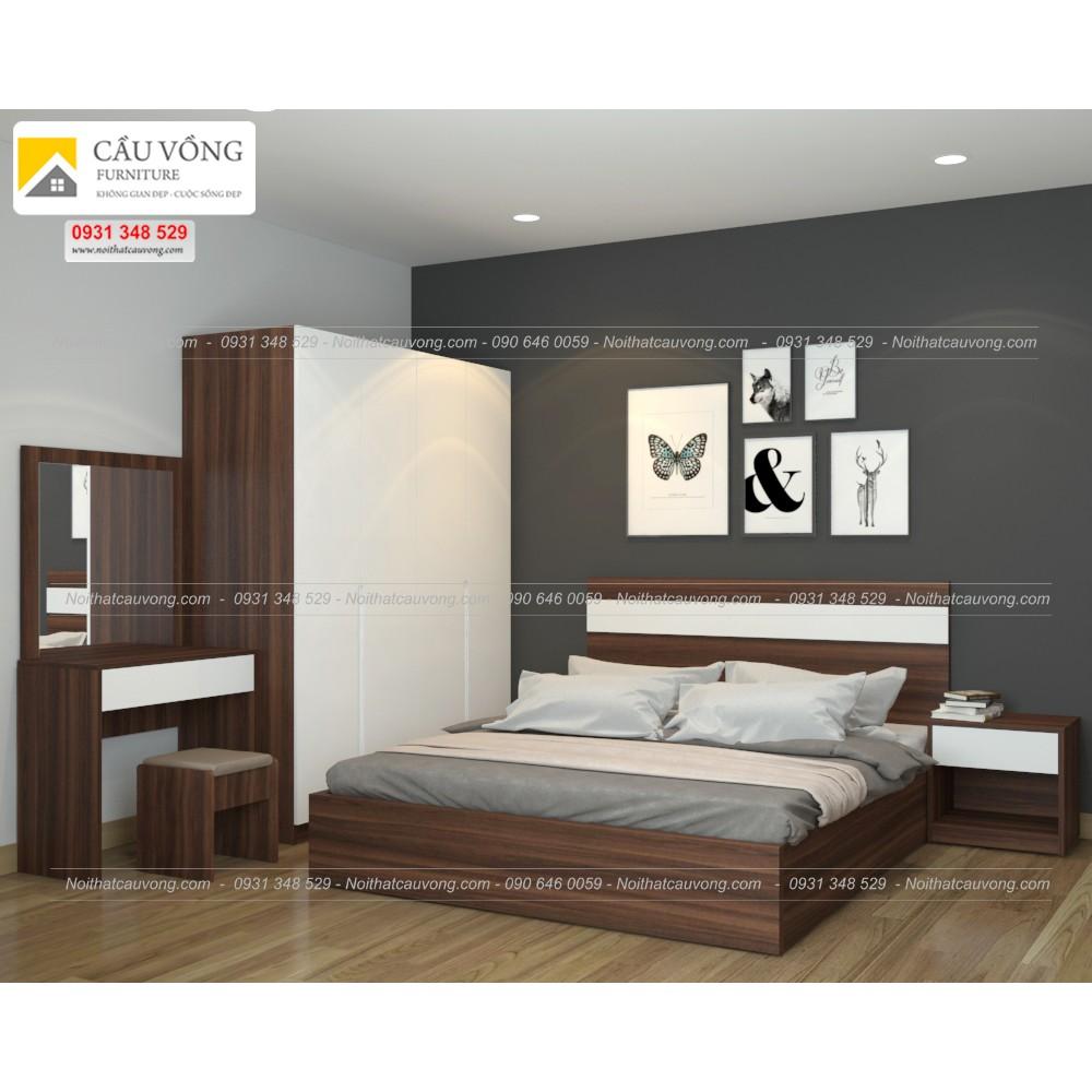 Bộ giường ngủ giá rẻ BPN95