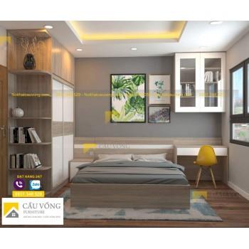 Bộ giường tủ phòng ngủ đẹp BPN71