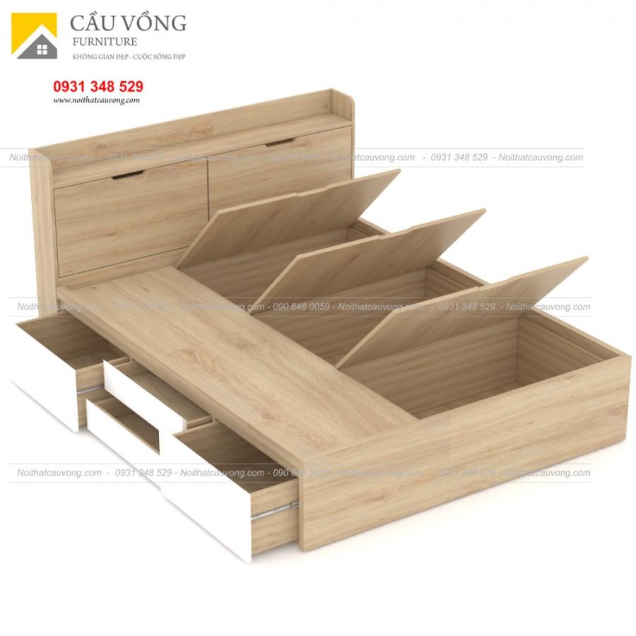 Giường ngủ có hộc để đồ-GCV62