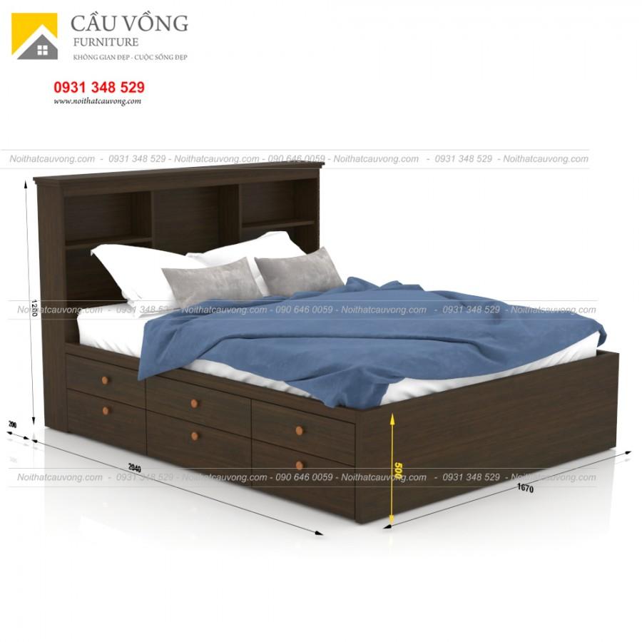 Giường ngủ có hộc để đồ-GCV64