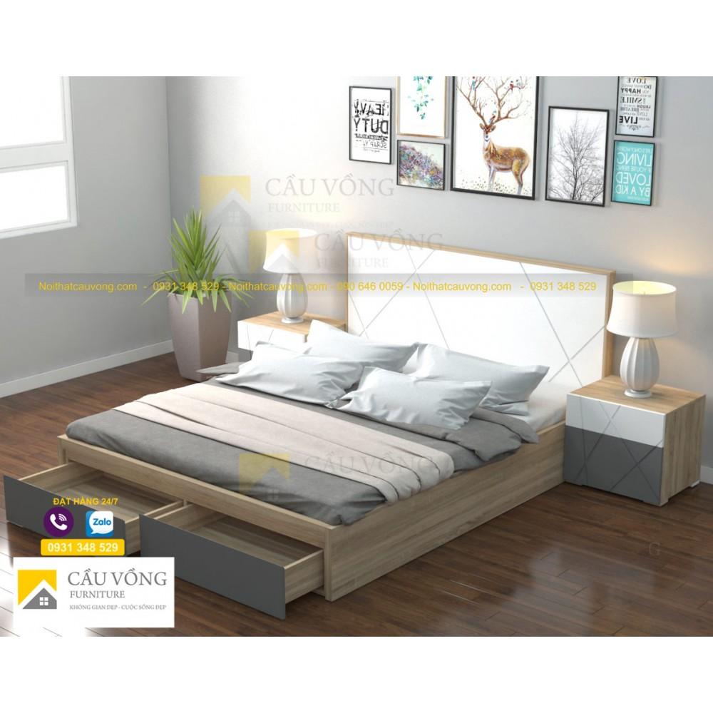 Giường ngủ gỗ đẹp GCV67