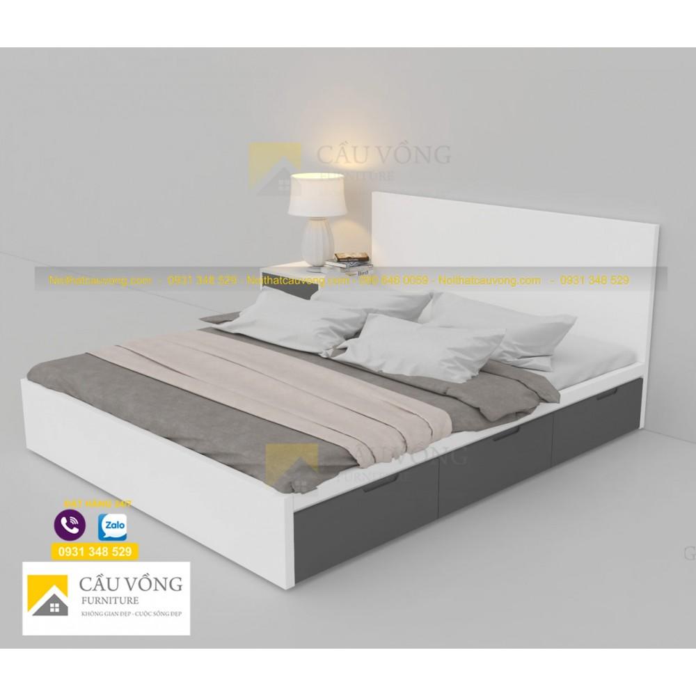 Giường ngủ màu trắng GCV73