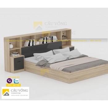 Giường ngủ kết hợp kệ sách GCV77
