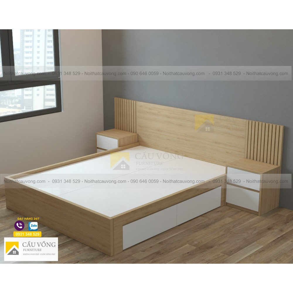 Giường ngủ hiện đại GCV43