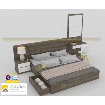 Giường ngủ kết hợp bàn trang điểm GCV78