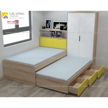 Giường ngủ có ngăn kéo để nệm GTE89