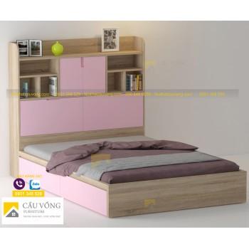 Giường ngủ kết hợp kệ sách GTE98