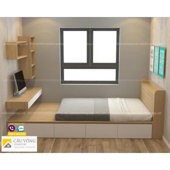 Giường ngủ kết hợp bàn học GTE96