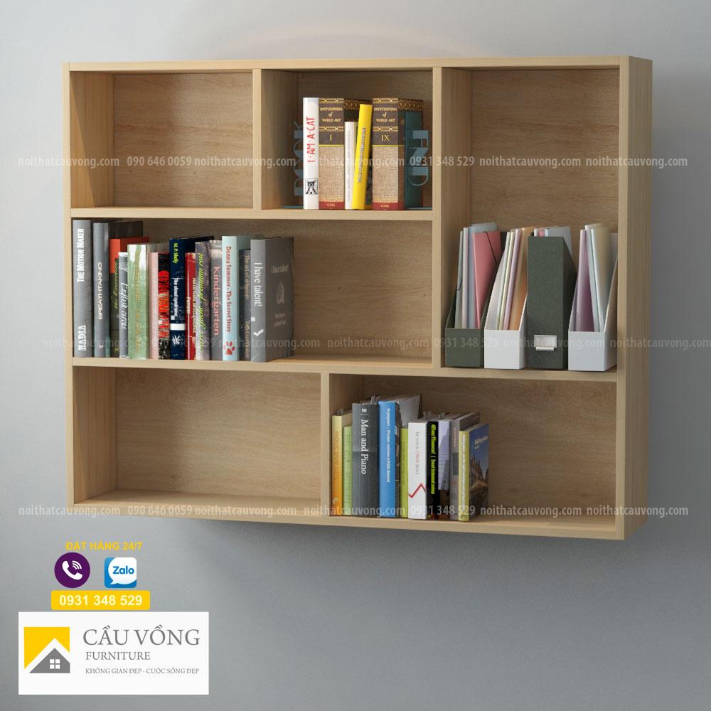 Kệ sách gỗ treo tường KS54