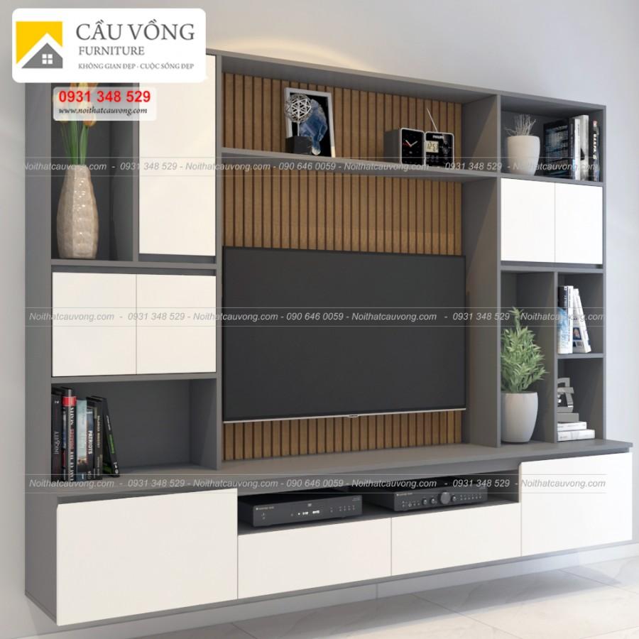 Kệ tivi phòng khách thiết kế đẹp bằng gỗ công nghiệp TV-65