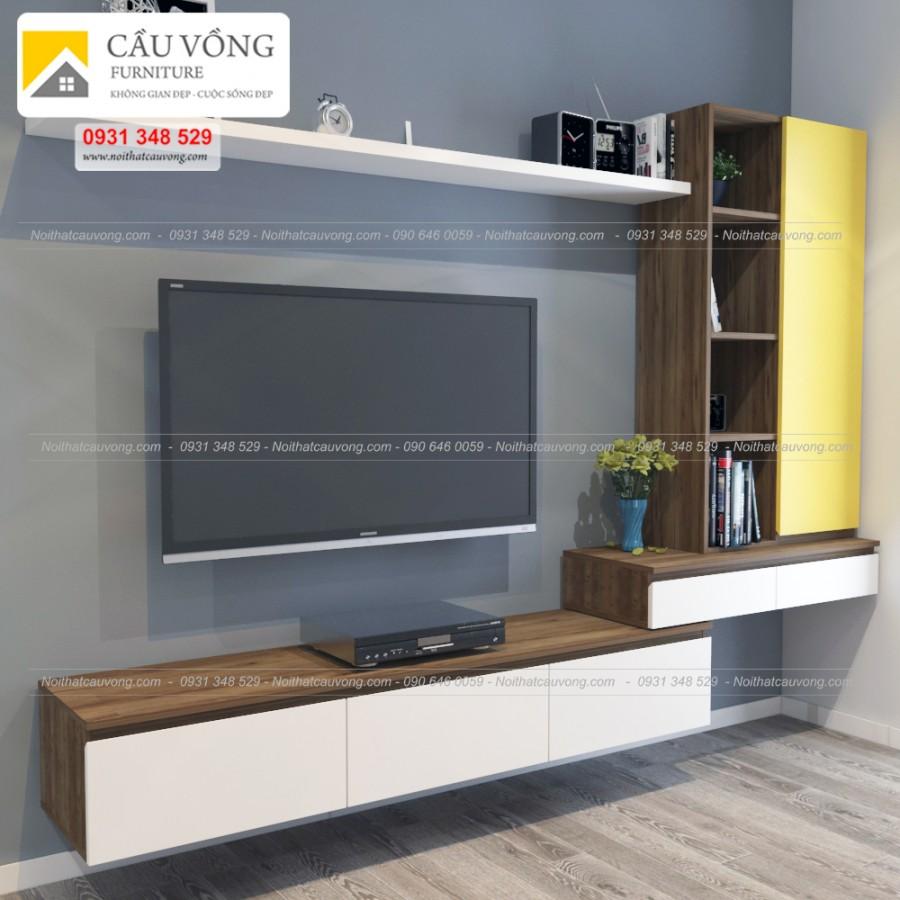 Kệ Tivi treo tường phòng khách đẹp TV-76