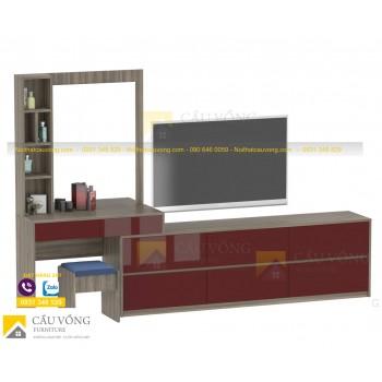 Kệ tivi phòng ngủ kết hợp bàn trang điểm TV-37