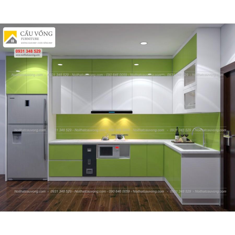 Tủ bếp acrylic An Cường TB27