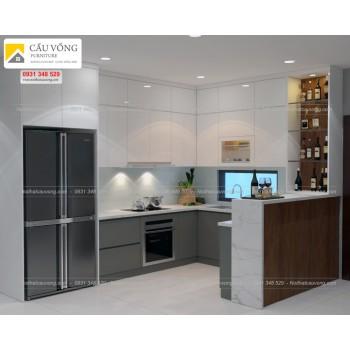 Tủ bếp acrylic hiện đại TB30