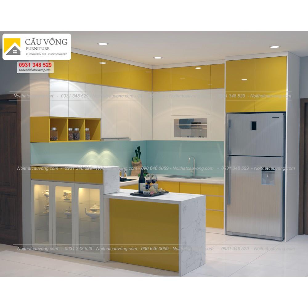 Tủ bếp acrylic hiện đại TB31