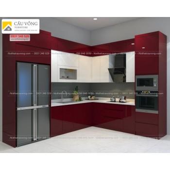 Tủ bếp Acrylic An Cường TB35