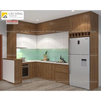 Tủ bếp gỗ Melamine hiện đại TB36