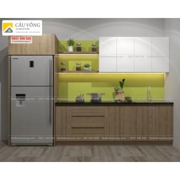 Tủ bếp gỗ công nghiệp hiện đại TB39