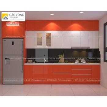Tủ bếp Acrylic An Cường hiện đại TB40