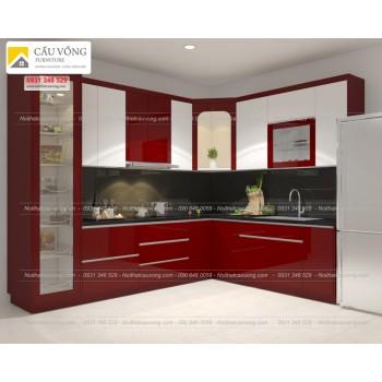 Tủ bếp Acrylic An Cường TB43