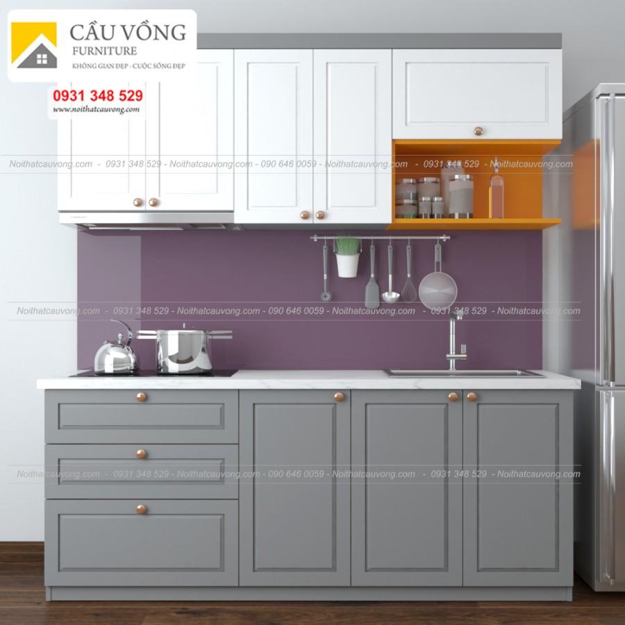 Tủ bếp gỗ tân cổ điển TB50