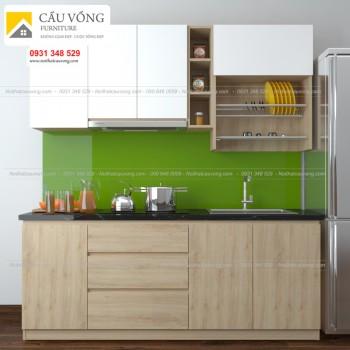 Tủ bếp gỗ công nghiệp hện đại TB52