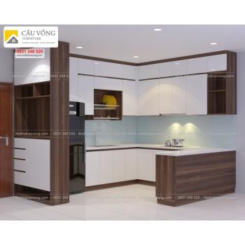 Tủ bếp chung cư hiện đại TB59