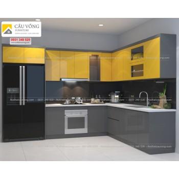 Tủ bếp Acrylic hiện đại TB68