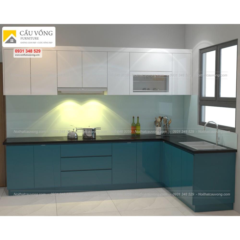 Tủ bếp Acrylic An cường TB69