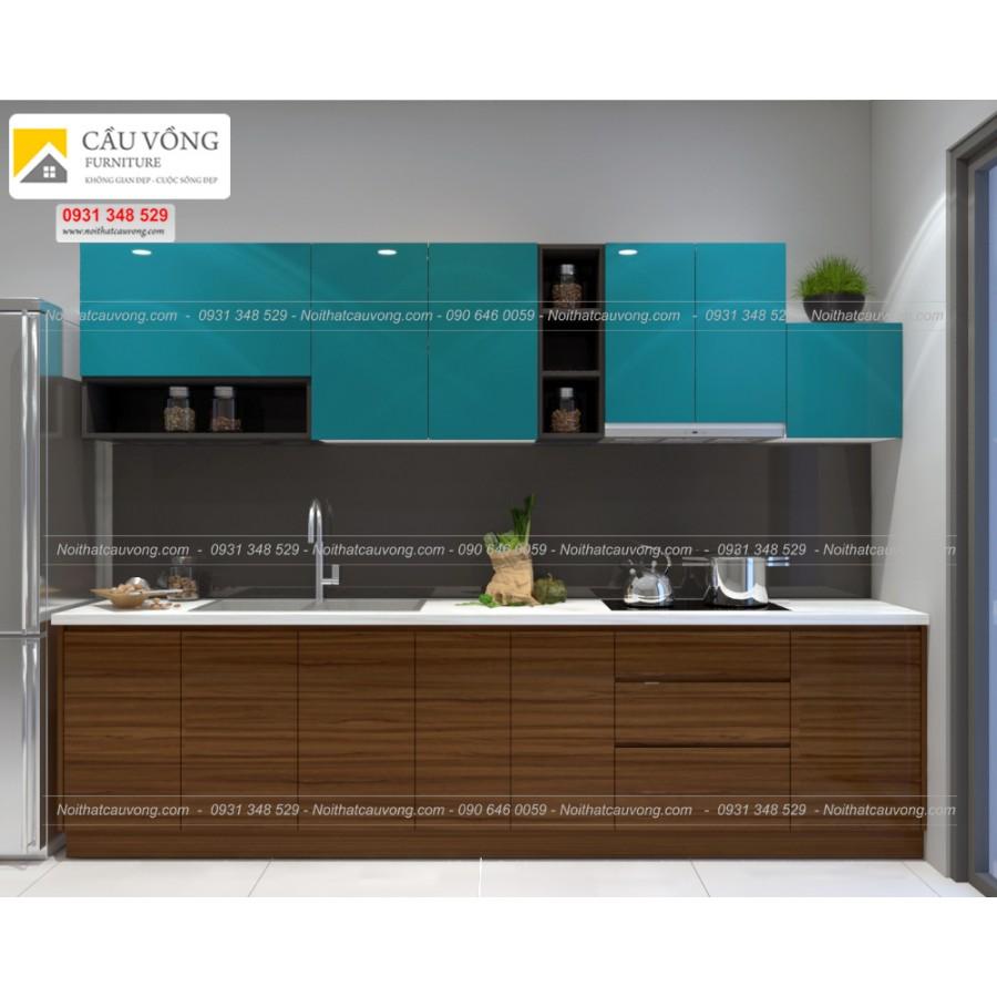Tủ bếp acrylic hiện đại TB74