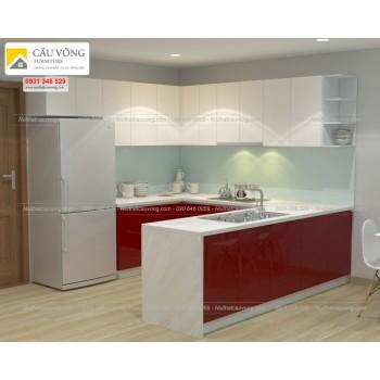 Tủ bếp Acrylic an cường TB85