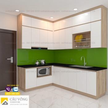 Tủ bếp thiết kế đụng trần TB95
